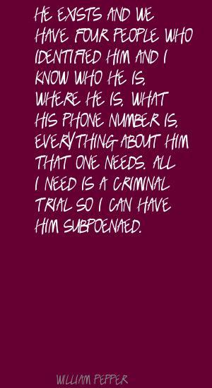 William Pepper's quote #1