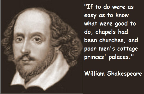 William Shakespeare's quote