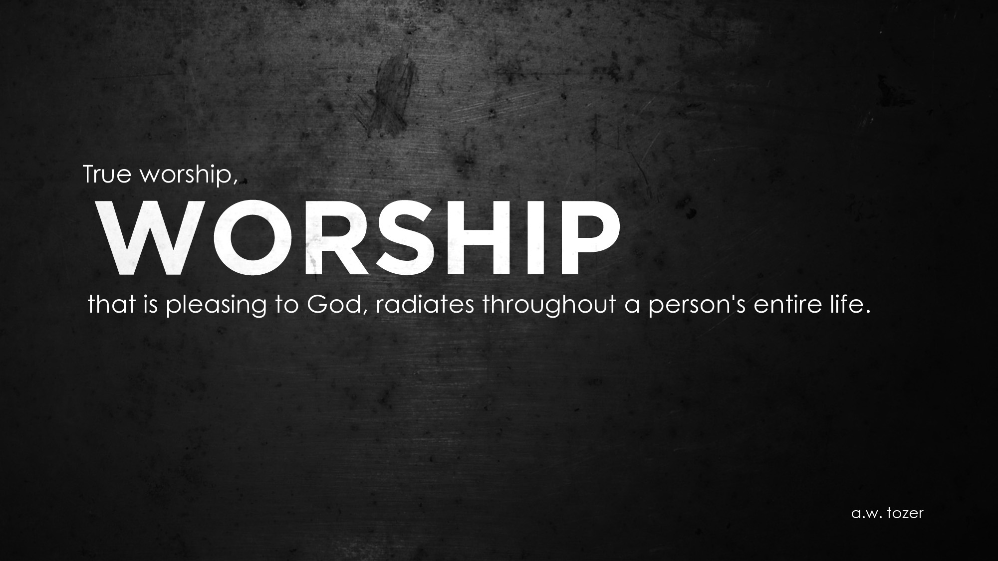 Worshipping quote #1