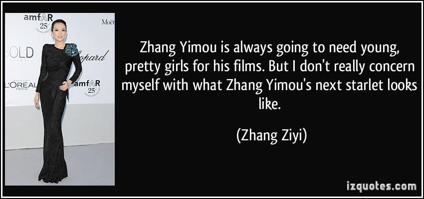Zhang Yimou's quote #7