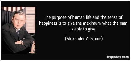 Alexander Alekhine's quote