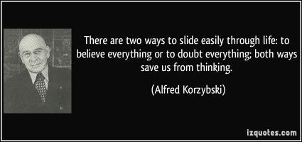 Alfred Korzybski's quote