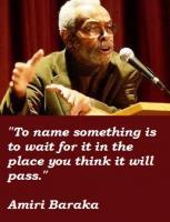 Amiri Baraka's quote