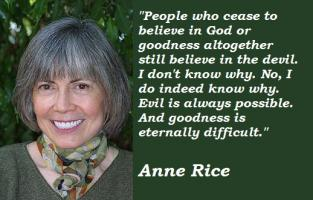 Anne Rice's quote