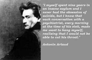 Antonin Artaud's quote