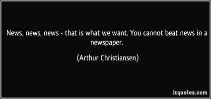 Arthur Christiansen's quote