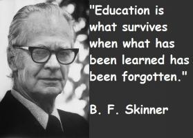 B. F. Skinner's quote
