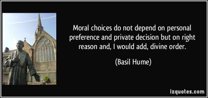 Basil Hume's quote