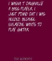 Bass Player quote #2