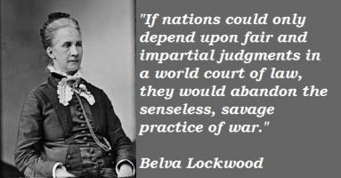 Belva Lockwood's quote