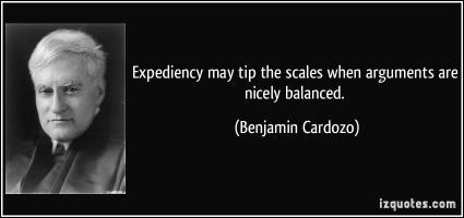 Benjamin Cardozo's quote