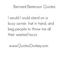 Bernard Berenson's quote