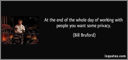 Bill Bruford's quote