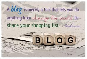 Blogging quote #1