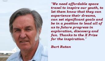 Burt Rutan's quote