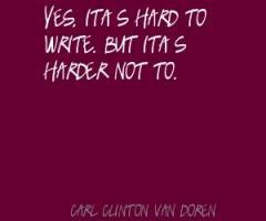 Carl Van Doren's quote