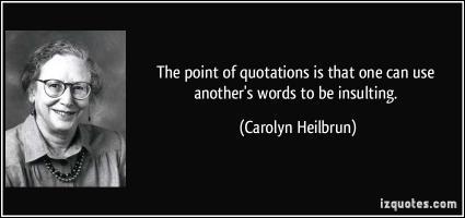 Carolyn Gold Heilbrun's quote