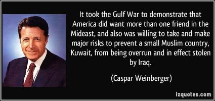 Caspar Weinberger's quote