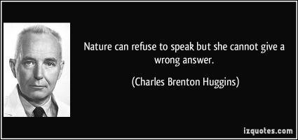 Charles Brenton Huggins's quote #1