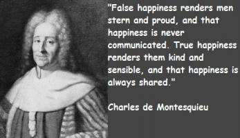 Charles de Montesquieu's quote