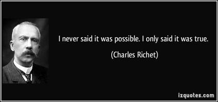 Charles Richet's quote