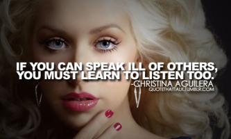 Christina Aguilera's quote