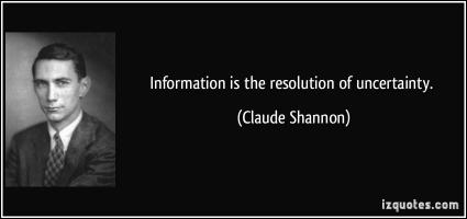 Claude Shannon's quote