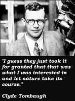 Clyde Tombaugh's quote