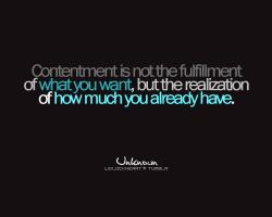 Contentment quote #2