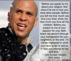 Cory Booker's quote
