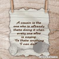 Cousin quote #3