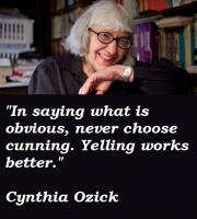 Cynthia Ozick's quote