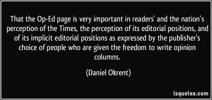 Daniel Okrent's quote