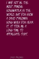 David Friedman's quote
