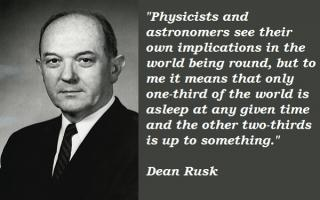 Dean Rusk's quote