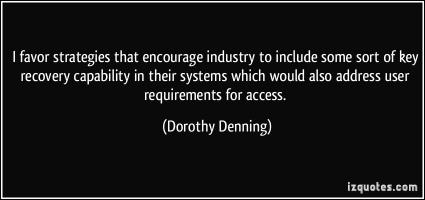 Dorothy Denning's quote