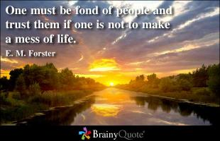 E. M. Forster's quote