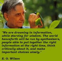 E. O. Wilson's quote
