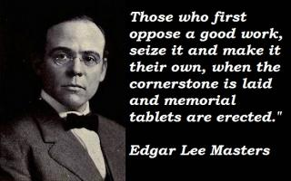 Edgar Lee Masters's quote