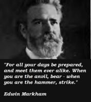 Edwin Markham's quote