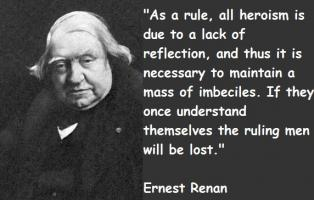 Ernest Renan's quote