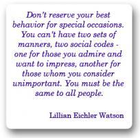 Etiquette quote #1
