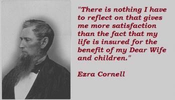 Ezra Cornell's quote
