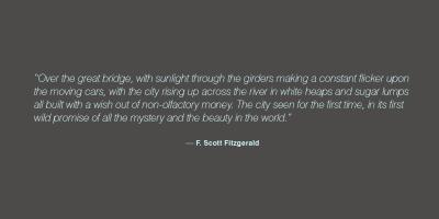 F. Scott Fitzgerald's quote