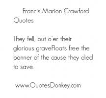 Francis Marion Crawford's quote #1