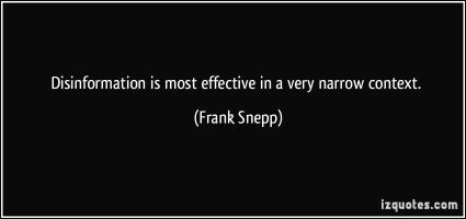 Frank Snepp's quote