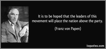 Franz von Papen's quote