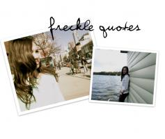 Freckles quote #1
