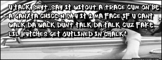 Gangsta quote #1