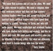 Gary Snyder's quote